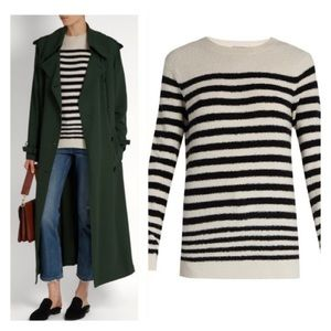 Vince stripes wool-blend sweater